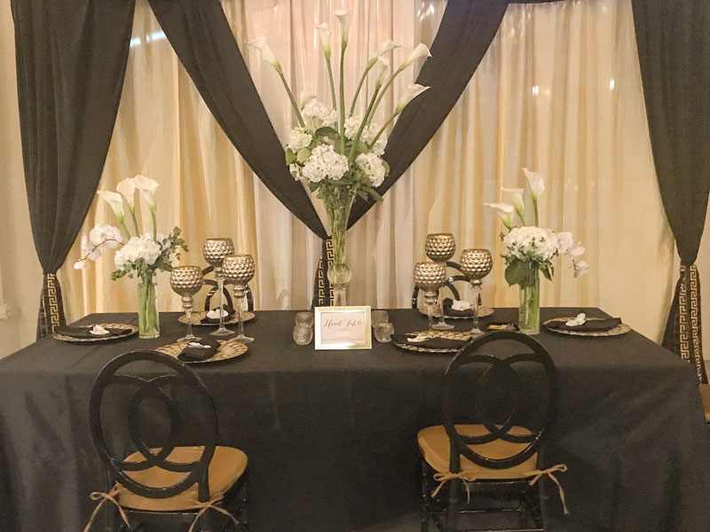 Elegant Events Florist - philadelphia pa - head table