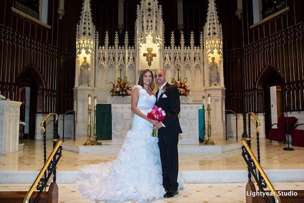Bride and groom at St John the Evangelist - Philadelphia catholic wedding - Philadelphia wedding - Just married