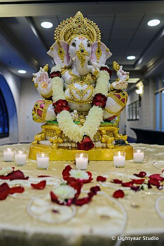 Gnesh - Lord Ganesh - Ganesh Pooja - Indian wedding ceremony - Philadelphia Indian weddings